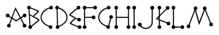 Katydid JNL Regular Font UPPERCASE