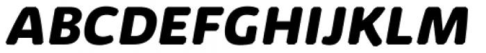 Kabrio Abarth ExtraBold Italic Font UPPERCASE
