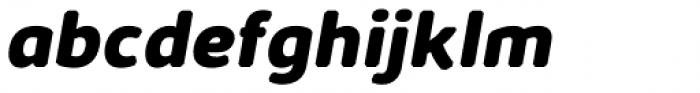 Kabrio Abarth ExtraBold Italic Font LOWERCASE