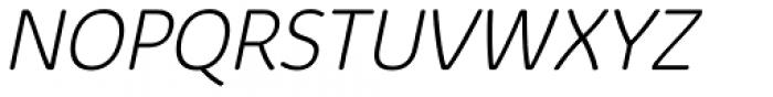 Kabrio Abarth ExtraLight Italic Font UPPERCASE