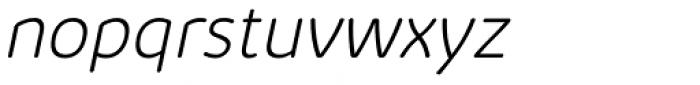 Kabrio Abarth ExtraLight Italic Font LOWERCASE