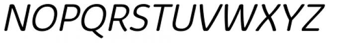 Kabrio Abarth Light Italic Font UPPERCASE