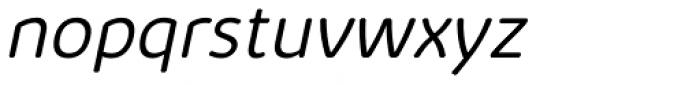 Kabrio Abarth Light Italic Font LOWERCASE