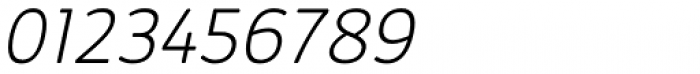 Kabrio Soft ExtraLight Italic Font OTHER CHARS