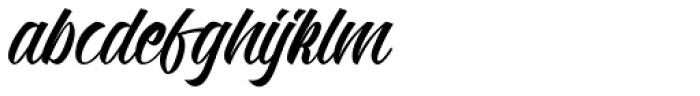 Kadisoka Script Font LOWERCASE