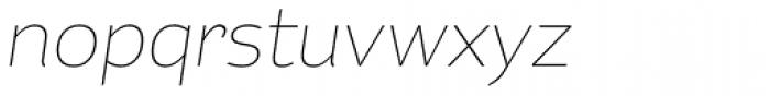 Kahlo Light Pro Italic Font LOWERCASE