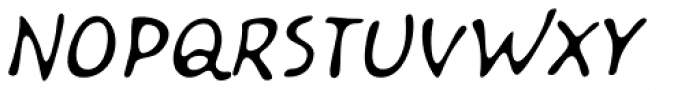 Kairengu Light Oblique Font UPPERCASE