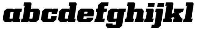 Kairos Pro Extd Black Italic Font LOWERCASE
