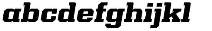 Kairos Pro Extd ExtraBold Italic Font LOWERCASE