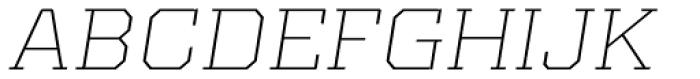 Kairos Pro Extd ExtraLight Italic Font UPPERCASE