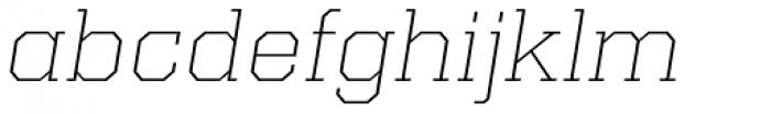 Kairos Pro Extd ExtraLight Italic Font LOWERCASE
