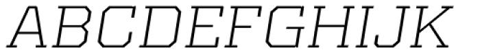 Kairos Pro Extd Light Italic Font UPPERCASE