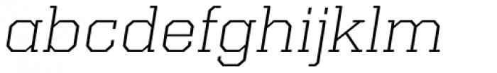 Kairos Pro Extd Light Italic Font LOWERCASE