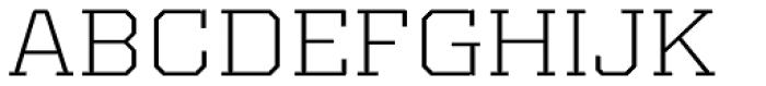 Kairos Pro Extd Light Font UPPERCASE