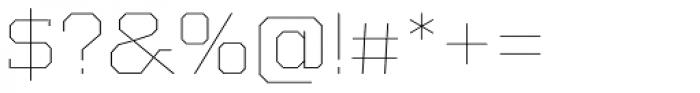 Kairos Pro Extd Thin Font OTHER CHARS