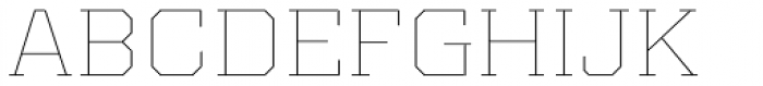 Kairos Pro Extd Thin Font UPPERCASE