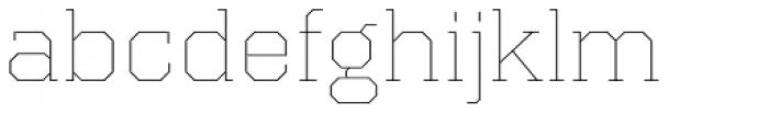 Kairos Pro Extd Thin Font LOWERCASE