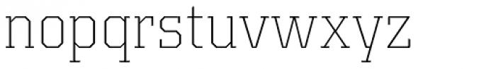 Kairos Pro ExtraLight Font LOWERCASE