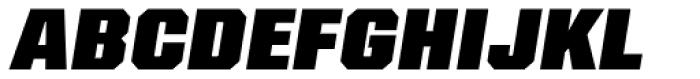 Kairos Sans Cond Black Italic Font UPPERCASE