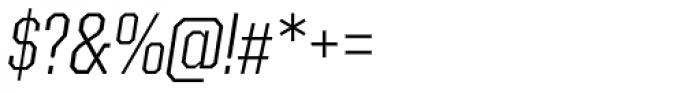Kairos Sans Cond Light Italic Font OTHER CHARS