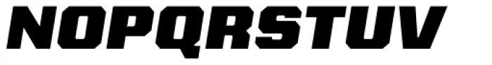 Kairos Sans Extd Black Italic Font UPPERCASE
