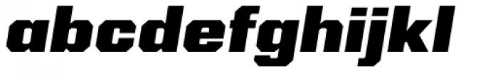 Kairos Sans Extd Black Italic Font LOWERCASE