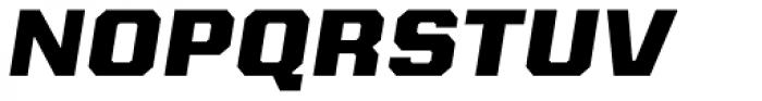 Kairos Sans Extd ExtraBold Italic Font UPPERCASE