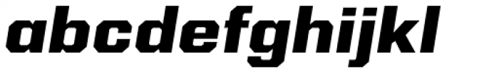 Kairos Sans Extd ExtraBold Italic Font LOWERCASE