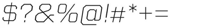 Kairos Sans Extd ExtraLight Italic Font OTHER CHARS