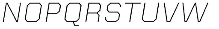 Kairos Sans Extd ExtraLight Italic Font UPPERCASE
