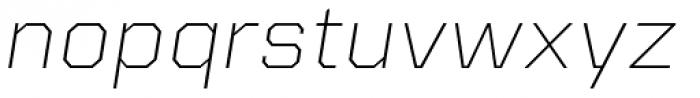 Kairos Sans Extd ExtraLight Italic Font LOWERCASE