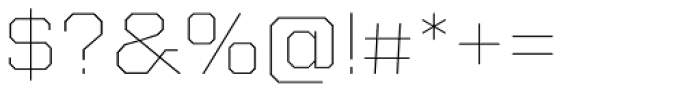 Kairos Sans Extd Thin Font OTHER CHARS