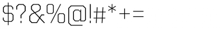 Kairos Sans ExtraLight Font OTHER CHARS