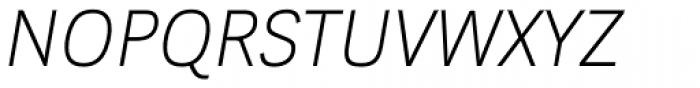 Kakadu Thin Italic Font UPPERCASE
