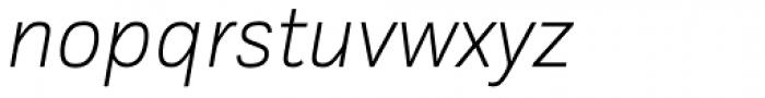 Kakadu Thin Italic Font LOWERCASE
