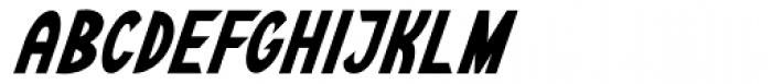 Kalchynsky Simple Heavy Italic Font UPPERCASE