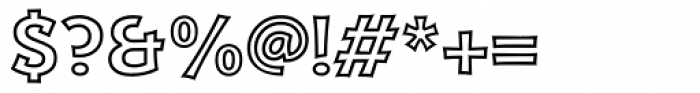 Kaleido Outline Font OTHER CHARS