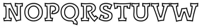 Kaleido Outline Font UPPERCASE