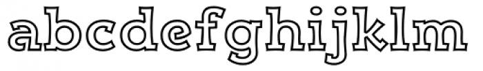 Kaleido Outline Font LOWERCASE