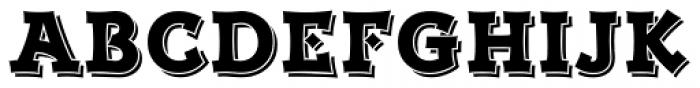 Kaleido Shaded Font UPPERCASE