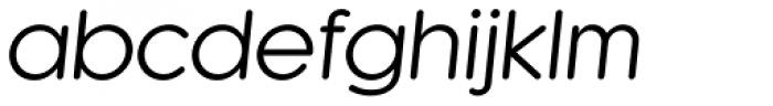 Kaleko 105 Round Book Oblique Font LOWERCASE