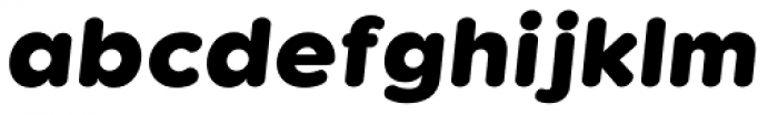 Kaleko 105 Round Heavy Oblique Font LOWERCASE