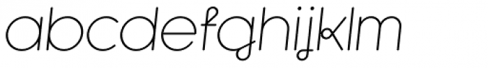 Kaleko 105 Round Remix Light Oblique Font LOWERCASE