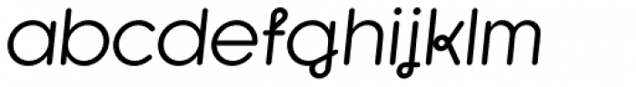 Kaleko 105 Round Remix Regular Oblique Font LOWERCASE