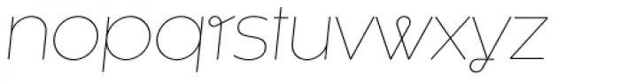 Kaleko 105 Round Remix Thin Oblique Font LOWERCASE