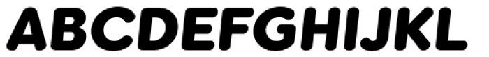 Kaleko 205 Round Heavy Oblique Font UPPERCASE