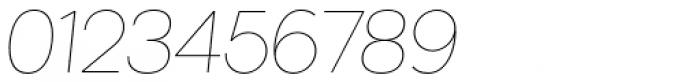 Kaleko 205 Thin Oblique Font OTHER CHARS