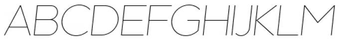 Kaleko 205 Thin Oblique Font UPPERCASE
