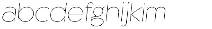 Kaleko 205 Thin Oblique Font LOWERCASE