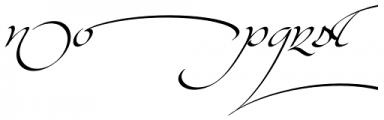 Kaligrafia Galana Alt Font LOWERCASE